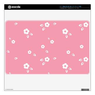 Pink flowers pattern skin for MacBook air