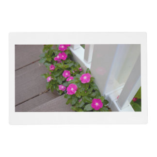 Pink Flowers Photo Placemat