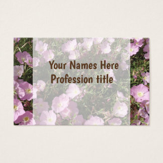 pink Flowers Photo  Professional Business Card