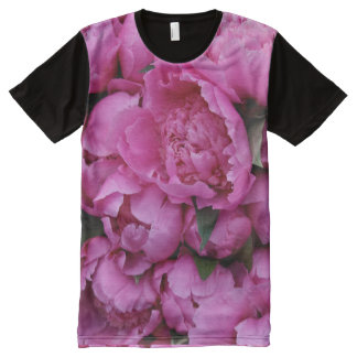 Pink Flowers Photographic Print T-Shirt