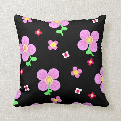 Pink Flowers Pillows