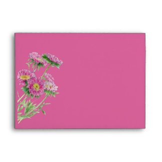 Pink Flowers pink Card Envelope