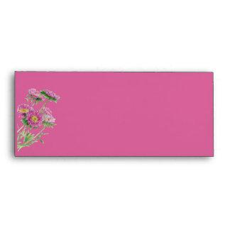 Pink Flowers pink Letterhead Envelope