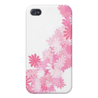 Pink Flowers pretty Covers For iPhone 4
