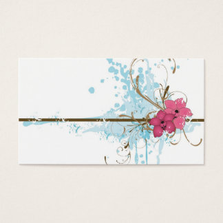 Pink flowers Profile Card