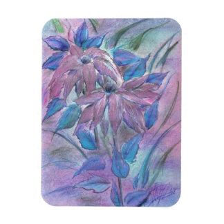 Pink Flowers Rectangular Photo Magnet