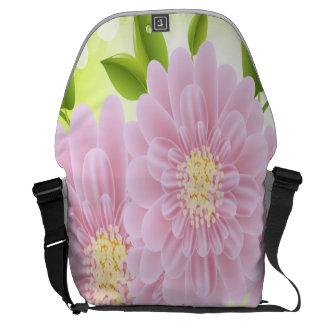 Pink Flowers Rickshaw Large Zero Messenger Bag