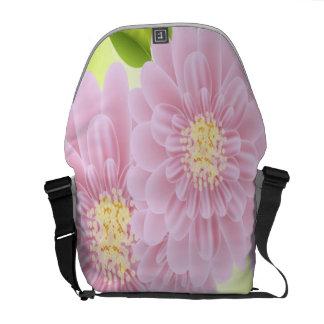 Pink Flowers Rickshaw Medium Zero Messenger Bag