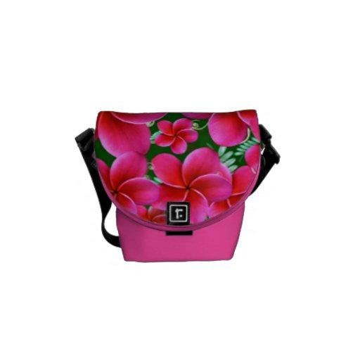 Pink Flowers Rickshaw Mini Zero Messenger Bag