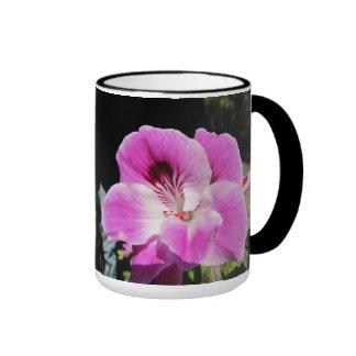 Pink Flowers Ringer Mug