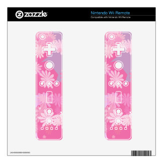 Pink Flowers Nintendo Wii Remote Decal