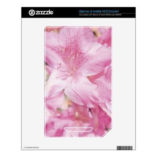 Pink Flowers NOOK Color Skin