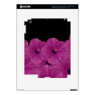 Pink Flowers Skin For iPad 3