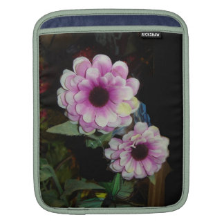 Pink Flowers Sleeve For iPads