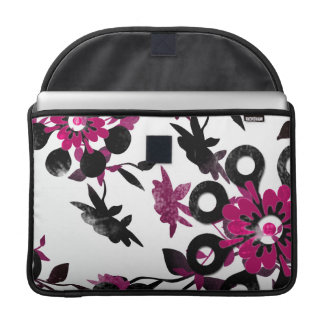Pink Flowers Sleeve For MacBook Pro