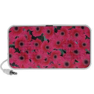 Pink flowers speaker system