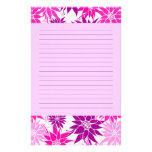 Pink Flowers Stationery