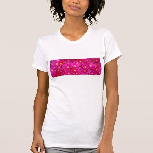 Pink flowers t shirt