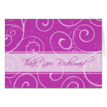 Pink Flowers Thank You Bridesmaid Card