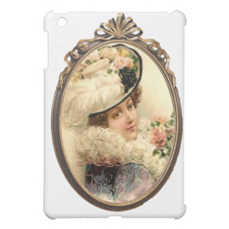 Pink Flowers Victorian Lady Case For The iPad Mini