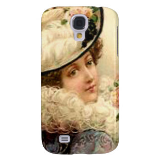 Pink Flowers Victorian Lady Samsung Galaxy S4 Covers
