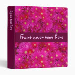 Pink flowers vinyl binder