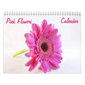 Pink Flowers Wall Calendar