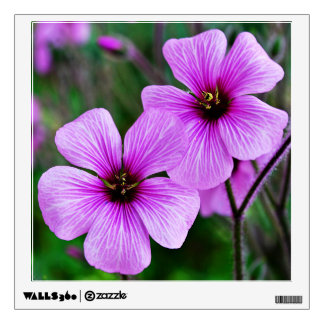Pink flowers wall decal