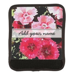 Pink Flowers Watercolors Style Personalized
