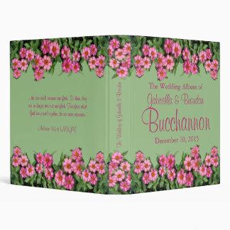 Pink Flowers Wedding Album Binder