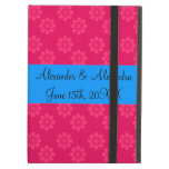Pink flowers wedding favors iPad case