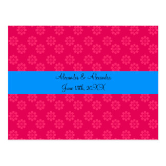 Pink flowers wedding favors post cards