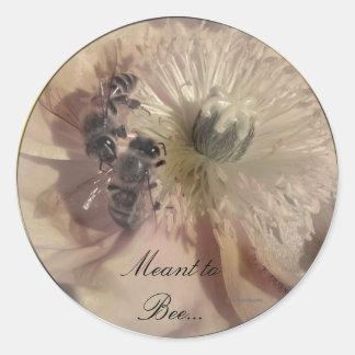 Pink Flowers Wedding Invitation Seals Classic Round Sticker