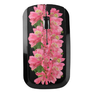 Pink Flowers Wireless Mouse
