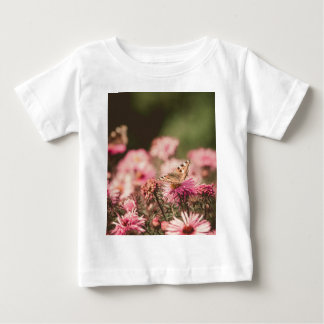 Pink Flowers with Butterfly Filtered 2 Baby T-Shirt
