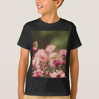 Pink Flowers with Butterfly Filtered 2 T-Shirt
