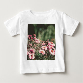 Pink Flowers with Butterfly Filtered 4 Baby T-Shirt