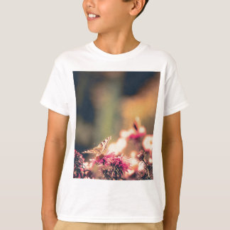 Pink Flowers with Butterfly Filtered T-Shirt