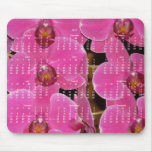 Pink Flowers Yearly Calendar 2015 Mousepads