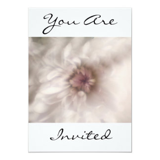 """Pink Flowers You Are Invited Invitation 5"""" X 7"""" Invitation Card"""