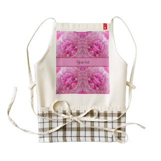 Pink Flowers Zazzle HEART Apron