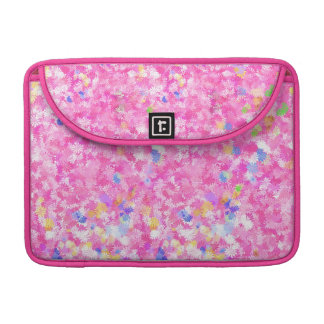 Pink Flowery Background Sleeves For MacBooks