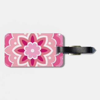 Pink & Flowery... Bag Tag
