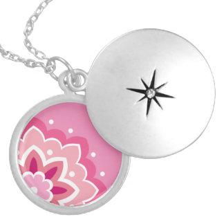 Pink & Flowery... Locket Necklace