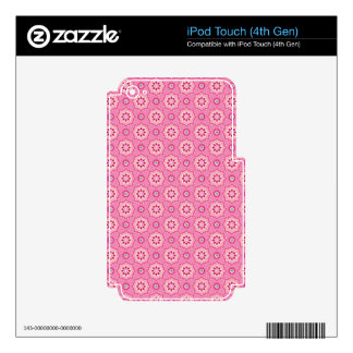 Pink & Flowery Skin For iPod Touch 4G