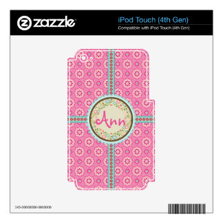 Pink & Flowery iPod Touch 4G Decals