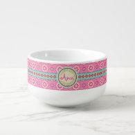 Pink &amp; Flowery... Soup Mug (<em>$25.95</em>)