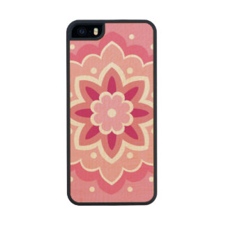 Pink & Flowery Carved® Maple iPhone 5 Case