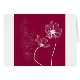 Pink Flowerz Greeting Card