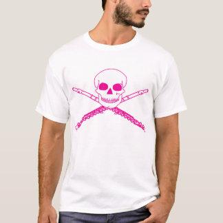 Pink Flute Skull T-Shirt